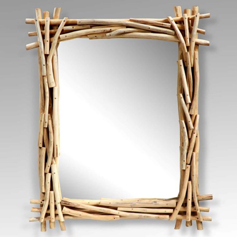 Wand Schmink Bad Kosmetik Spiegel TEAK Holz Design Landhaus Vintage BHP B992113