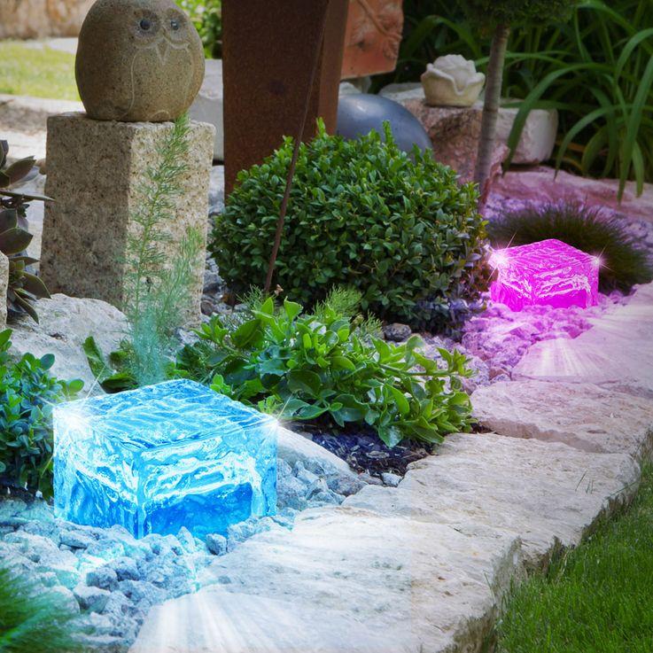 6er Set RGB LED Solarleuchten in verschiedenen Designs – Bild 3