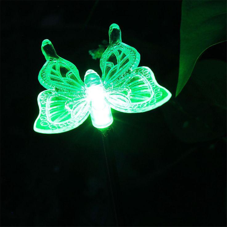 8x LED prise solaire Lights Ball RGB couleur changeante libellule papillon éclairage extérieur lampes – Bild 6