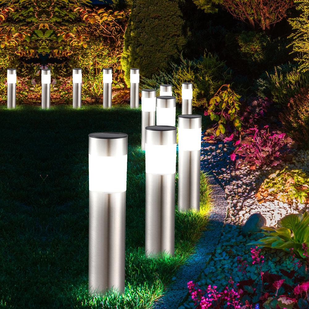 Set Of 5 Led Solar Lights In Different Designs