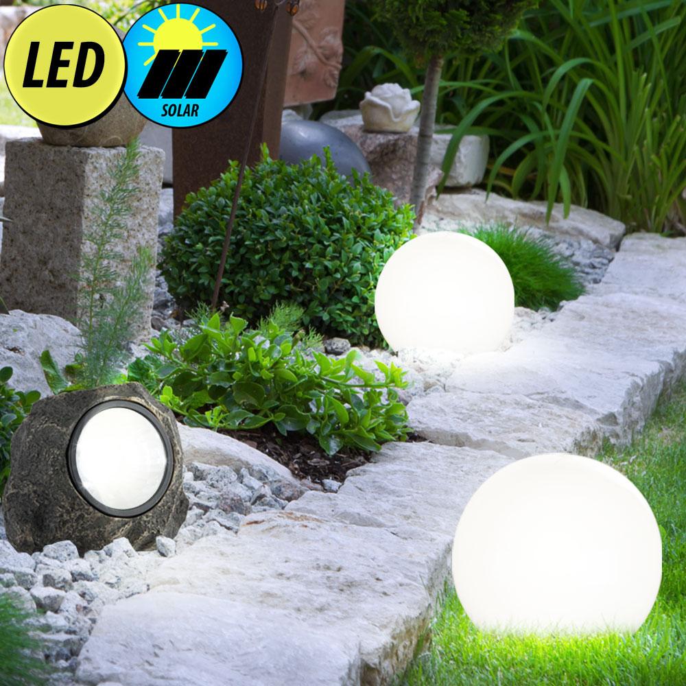 led solarleuchten in stein und kugelform lampen m bel au enleuchten dekoration. Black Bedroom Furniture Sets. Home Design Ideas