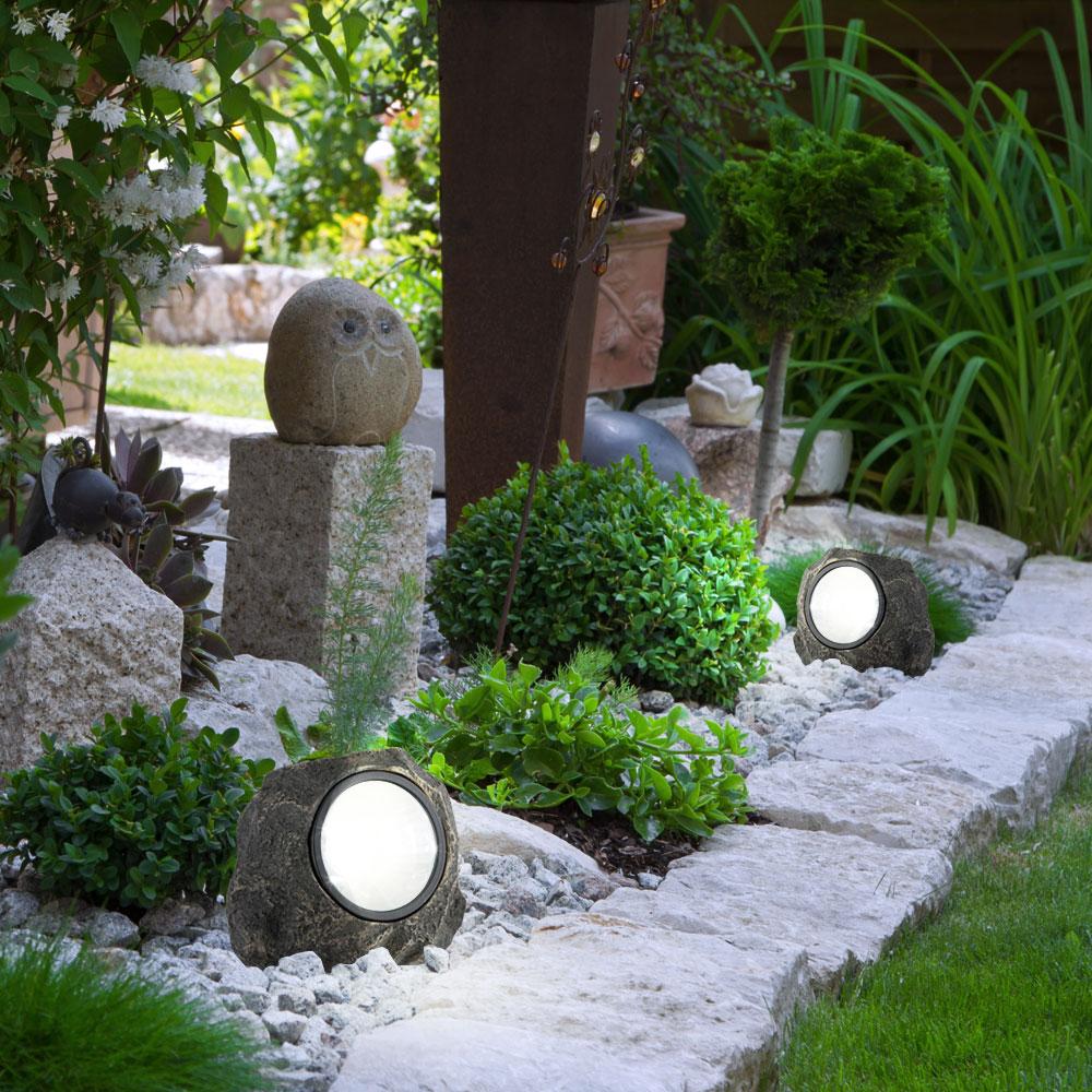 1x Led Stone Solar Light And 2x Deco Plug Erflies Bild 6
