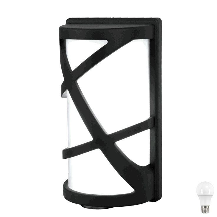 LED ALU wall lamp in black, height 29.5 cm, V  -745 – Bild 1