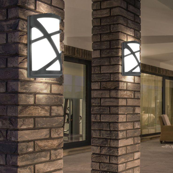 LED ALU wall lamp in black, height 29.5 cm, V  -745 – Bild 5