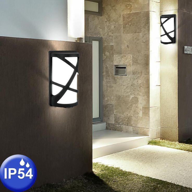 LED ALU wall lamp in black, height 29.5 cm, V  -745 – Bild 6