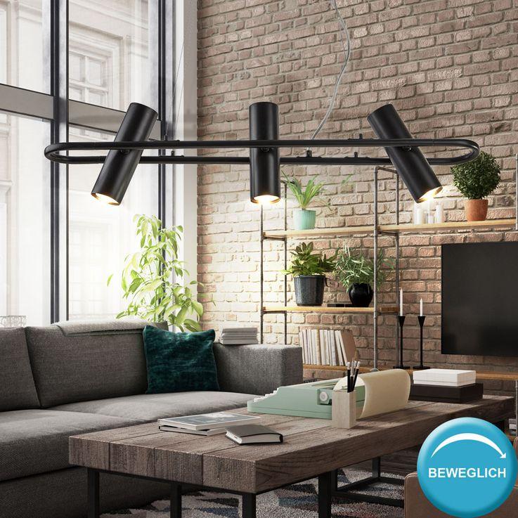 Headlamp hanging lamp, spots movable, black, TELESCOPE – Bild 3