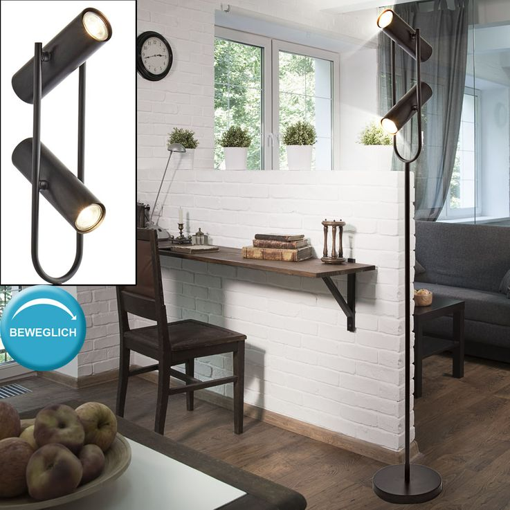 Stand de luxe Stand Lampe Plafond Floodlight Chambre Projecteur réglable  Searchlight EU2792BK – Bild 3