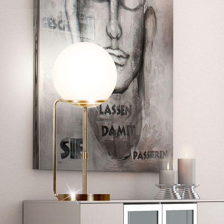 Table lamp stand lamp reading spotlight lighting brass antique glass ball  Searchlight EU8092AB – Bild 3
