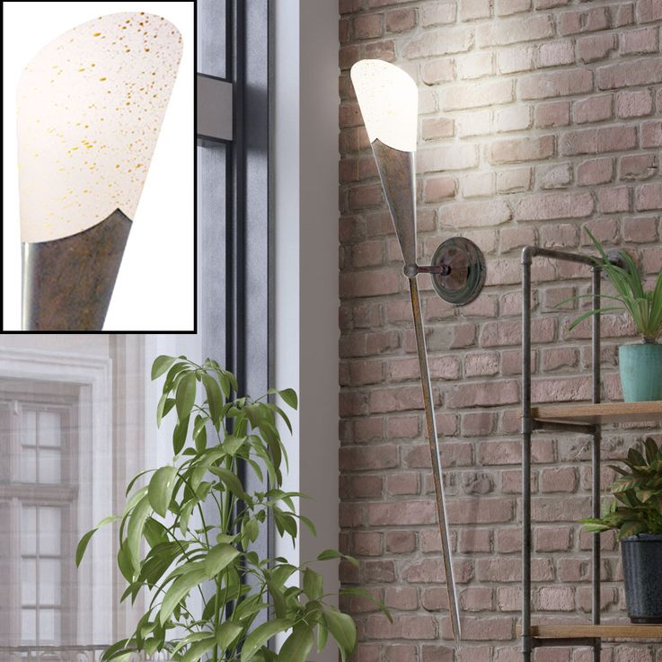 Rustic wall torch lighting glass lamp light rustic style spotlight Searchlight 6430  -1BR – Bild 3