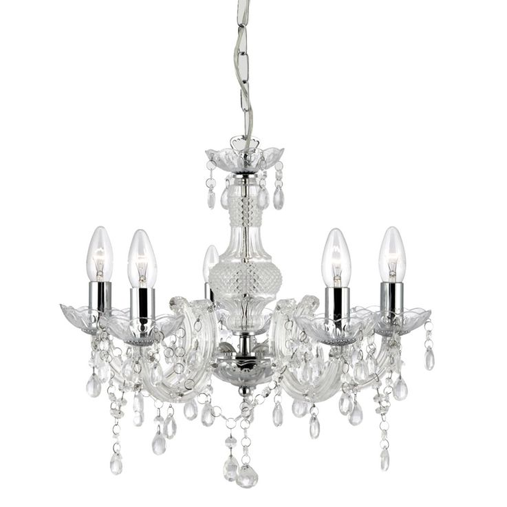 Crystal chandelier living room pendant lighting ceiling hanging luster clear  Searchlight 700002 – Bild 1