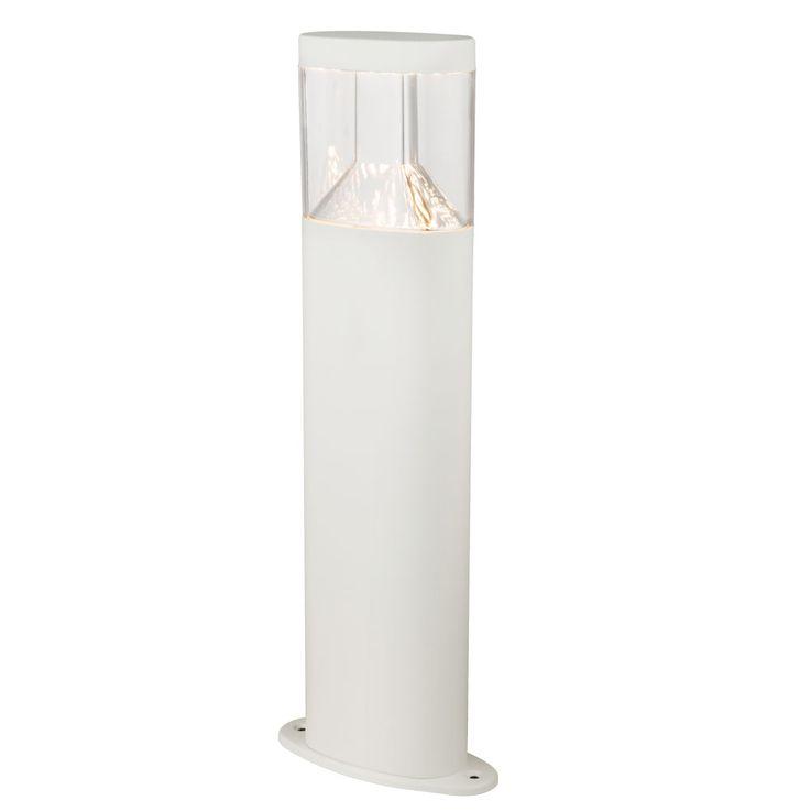 LED stainless steel pillars standing lamp white outdoor lighting pedestal driveway stand lamp  Globo 34204 – Bild 1
