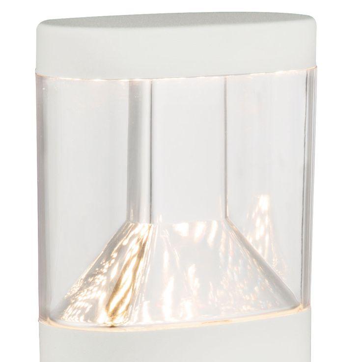 LED Edelstahl Säulen Steh Leuchte weiss Außen Beleuchtung Sockel Einfahrt Stand Lampe Globo 34204 – Bild 4