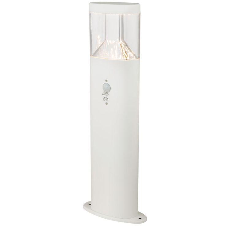 LED Stand Lamp Motion Detector Garden Path Lighting Stainless Steel Pedestal Lamp White  Globo 34204S – Bild 1