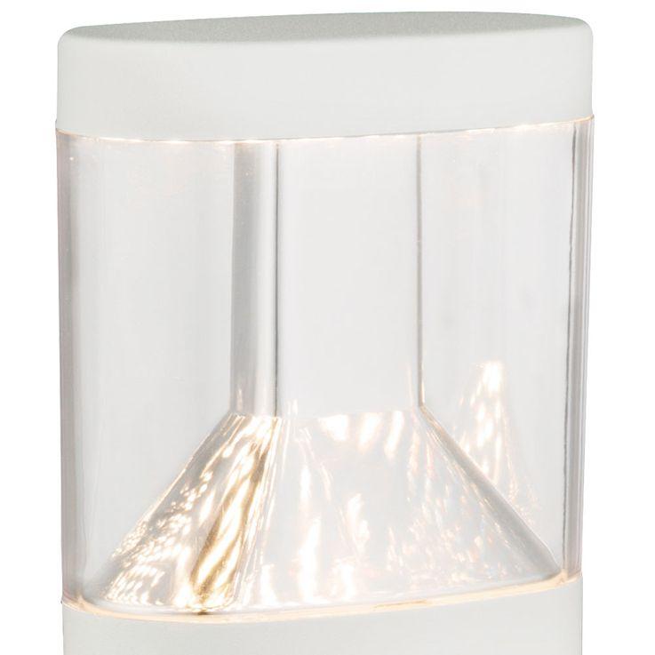 LED Steh Lampe Bewegungs Melder Garten Weg Beleuchtung Edelstahl Sockel Lampe weiß Globo 34204S – Bild 4