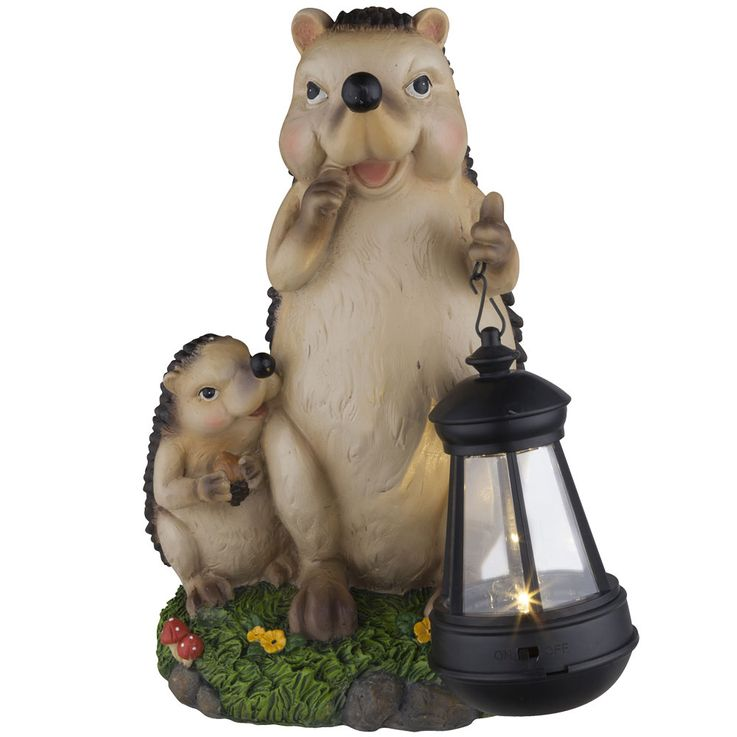 Lot de 2 lampes solaires LED en design hedgehog, hauteur 27 cm – Bild 6