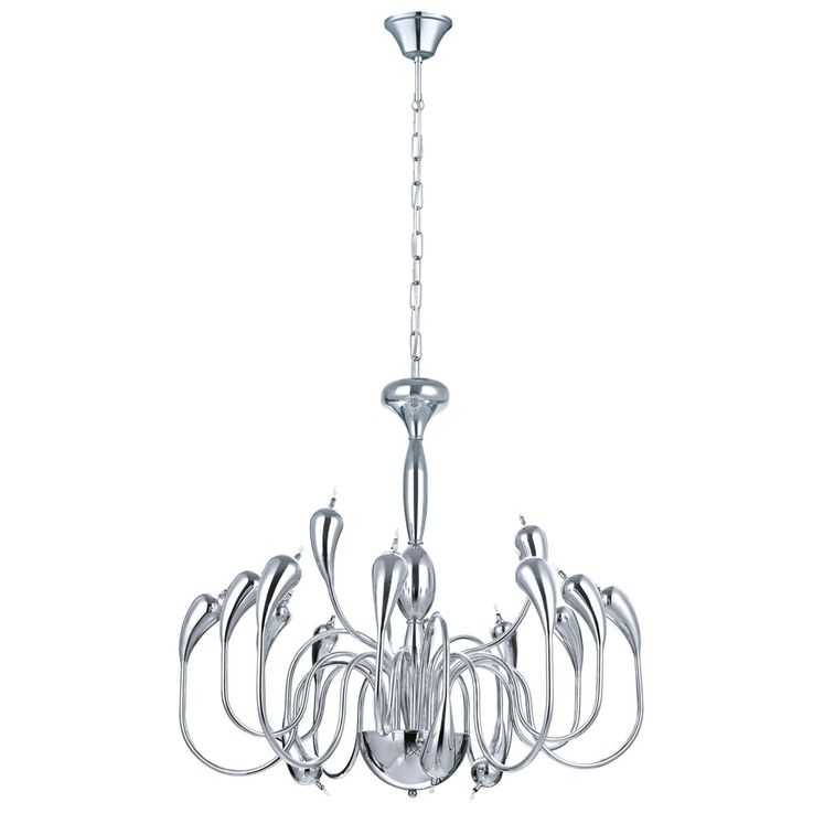 Chrome chandelier living room lighting ceiling hanging chandelier lamp diameter 84.5 cm  Eglo 30713 – Bild 1