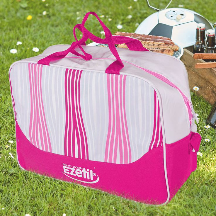 Picnic Bag 20 Liter Travel Cooler Bag Nylon Thermo Box Food Cooler Pink HARMS 504805 – Bild 2