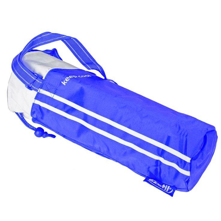 Flaschen Kühl Tasche 2 Liter Camping Thermo Trage Beutel Getränke Isolierung blau Harms 504795 – Bild 1