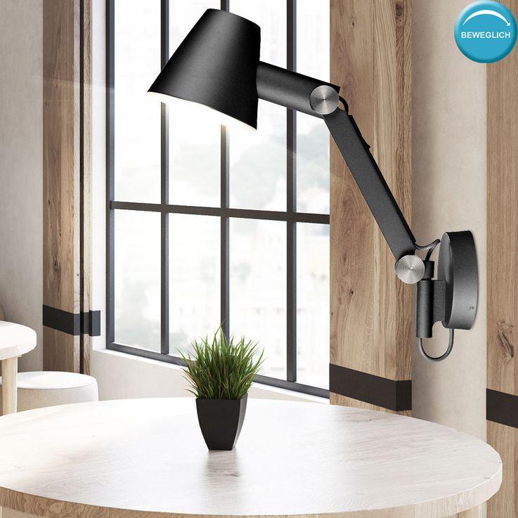 Spots muraux invités lampe de la tache de la lampe spot noir pivotant bras réglable  Nordlux 78371003 – Bild 3