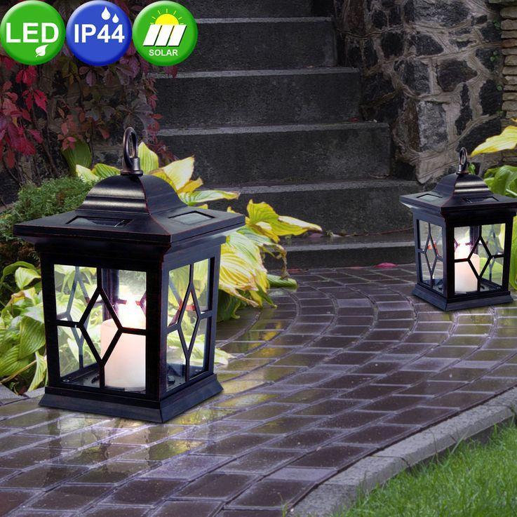 LED Solar Steh Leuchte Außen Beleuchtung Garten Laterne Stand Lampe braun Nordlux 62525009 – Bild 3