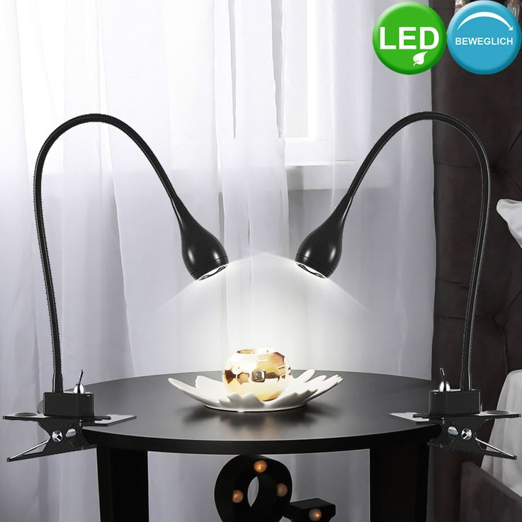 LED writing table clamp spotlight living working room lighting reading lamp flexible  Nordlux 320230 – Bild 3