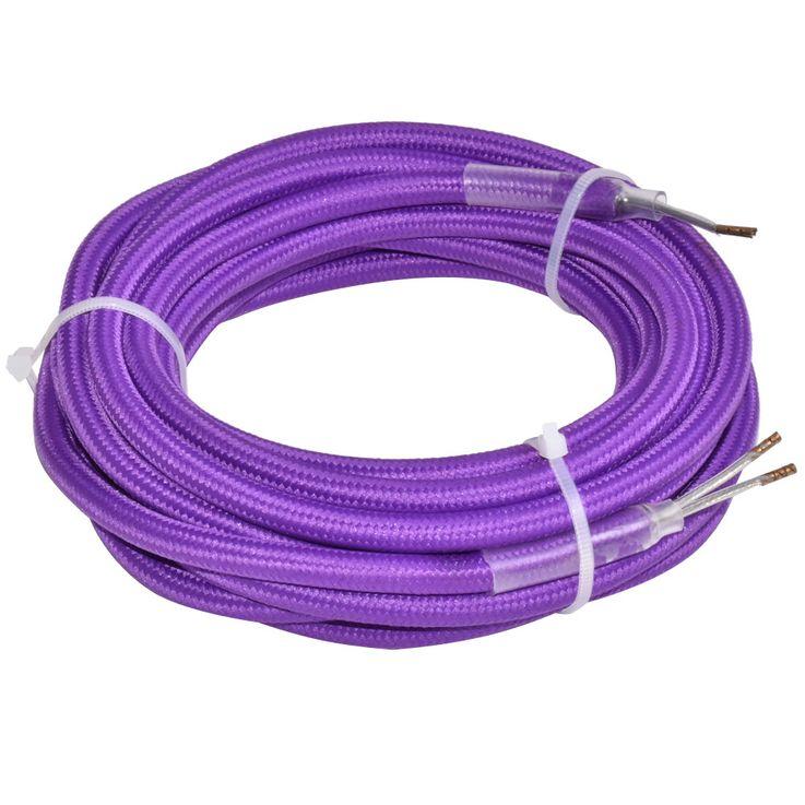 Lampen Textil Strom Kabel purple Pendel Leitung Verlängerung 2-adrig Nordlux 73059907 – Bild 1