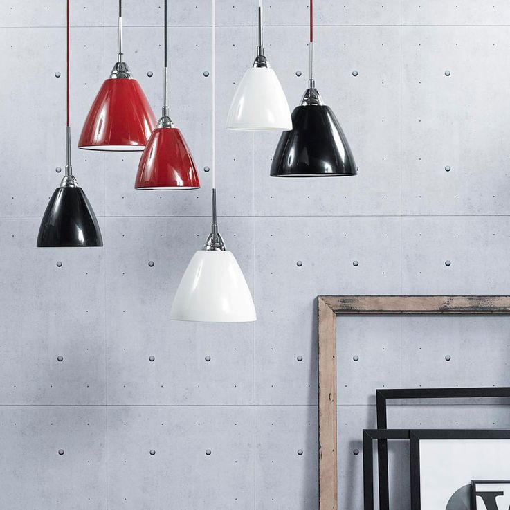 Pendulum hanging lamp red dining living room kitchen metal textile cable Modern Nordlux 73153002 – Bild 3