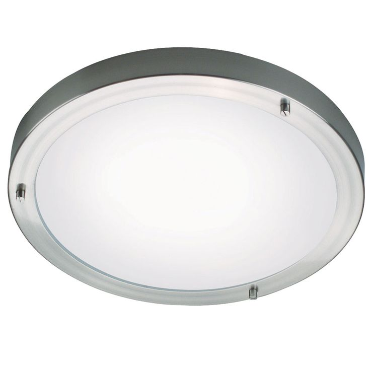 Ceiling lamp lamp silver round bath room damp room metal glass IP44 G9 Nordlux 25236132 – Bild 1