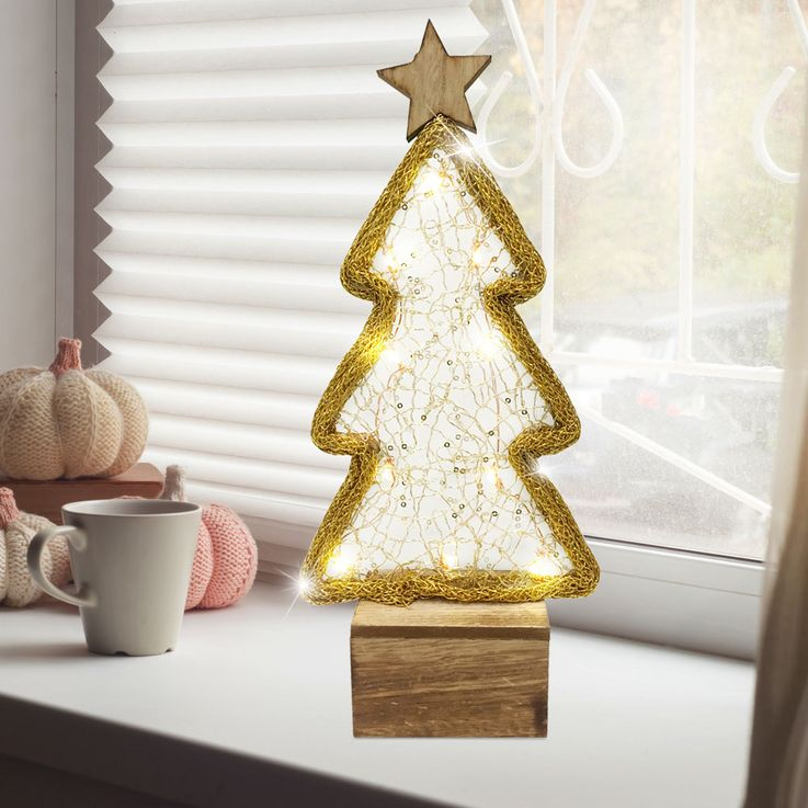 LED Decoration Luminescent Tree 10 LEDs Gold Christmas Table Lamp  Nordlux 80290000 – Bild 2