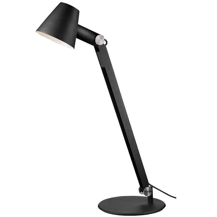 Modern table lamp spotlight movable sleep work room black swivel arm  Nordlux 78385003 – Bild 1
