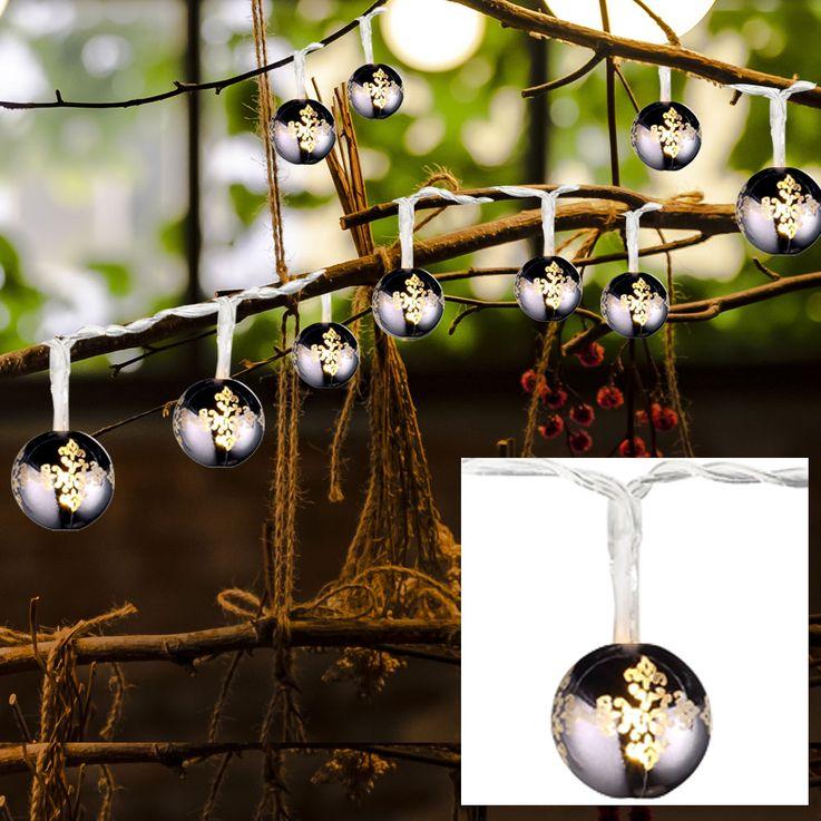 Chaîne de lumières LED boules de noël décoration chrome lampe lumière lumière noire  Nordlux 81010000 – Bild 3