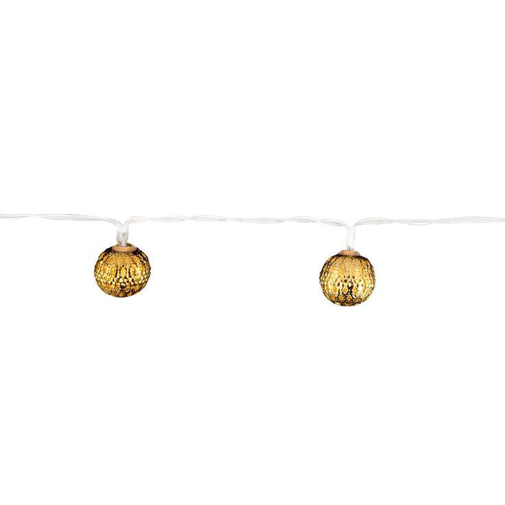 LED Lichterkette mit 10 gold farbigen Kugeln ASTRID – Bild 4