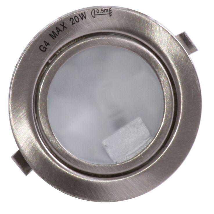 Einbau Aufbaulampe, Stahl gebürstet, Durchmesser 6,6 cm MERCUR – Bild 1