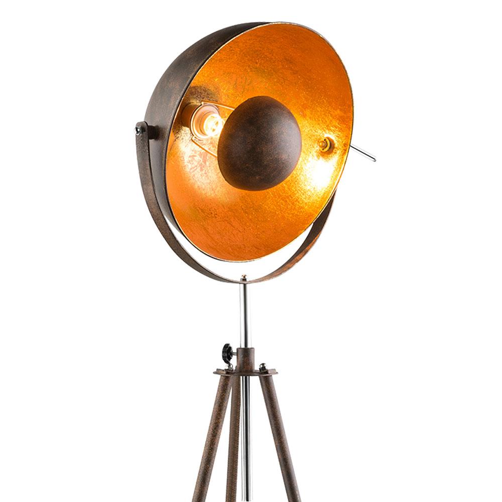 3 Bein Stehlampe Rostfarben Gold Hohe 179 Cm Xirena I Etc Shop