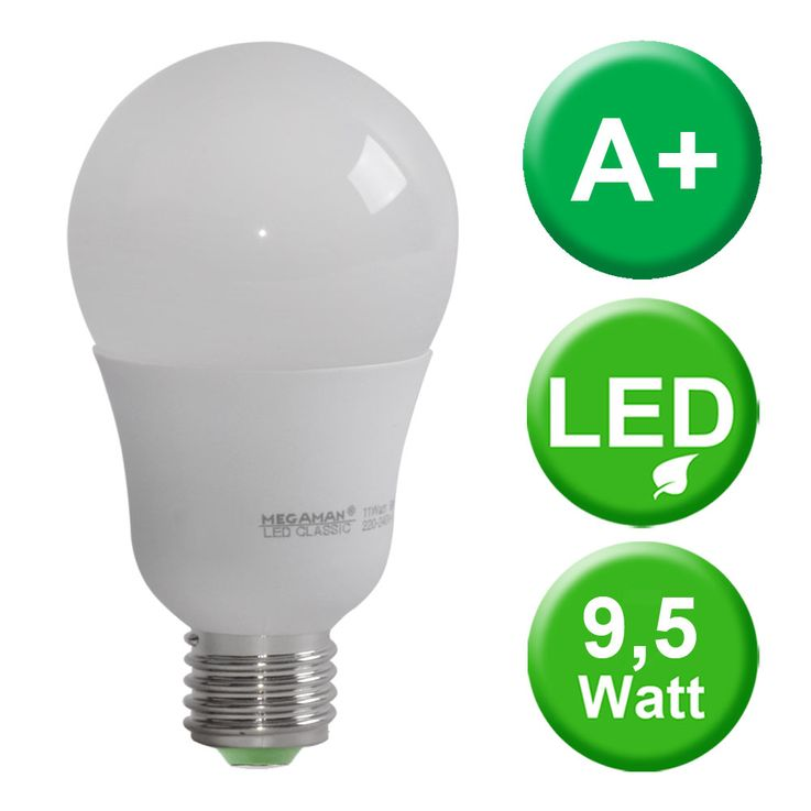E27 LED bulbs 9.5 watts incandescent bulb 2800K bulb 810 lumens bulb warm white MEGAMAN MM21045 – Bild 2
