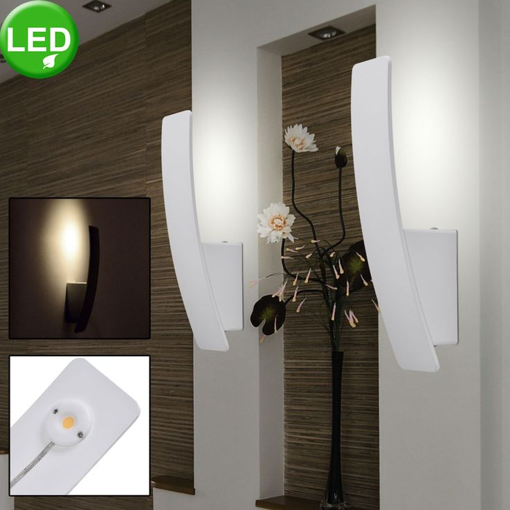 LED ALU wall lamp living room lighting hallway spotlight lamp white  Näve 1154726 – Bild 3