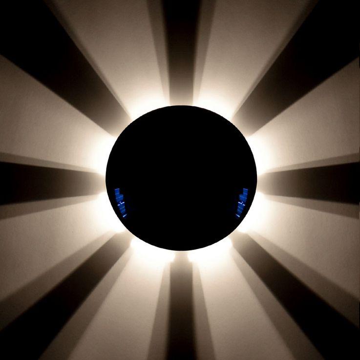 Design Wand Lampe Wohn Zimmer Beleuchtung Flur Strahler chrom Leuchte rund Brilliant G90220/15 – Bild 3