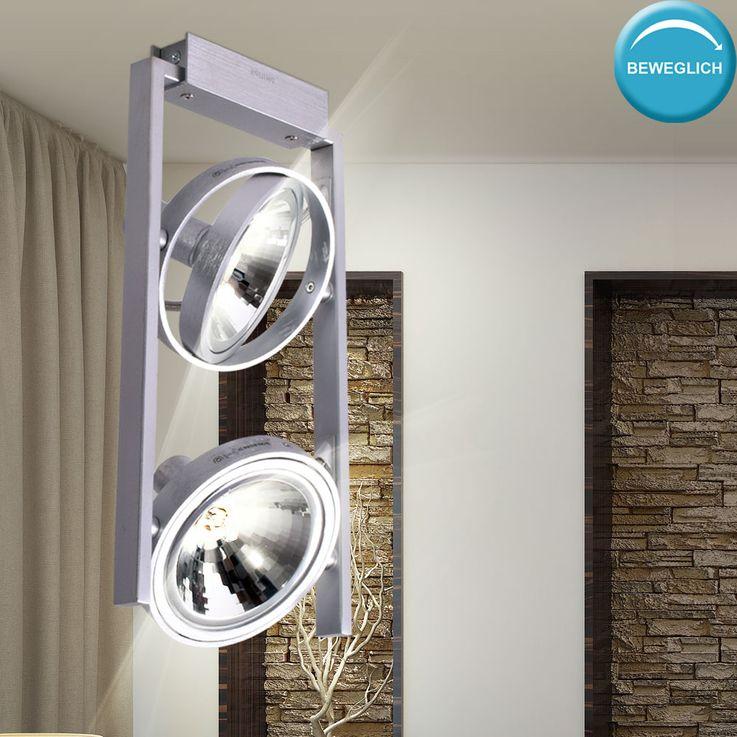 Ceiling lamp living room ALU spotlight lighting spots adjustable  Philips 530624816 – Bild 3