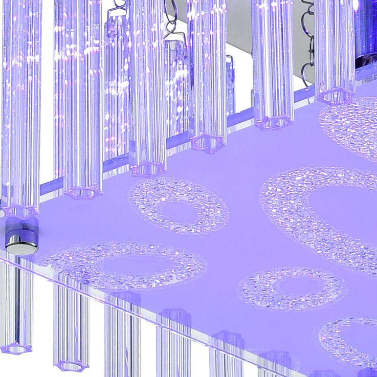 LED Chrom Deckenleuchte, Glas Kristalle MARIETTA – Bild 5