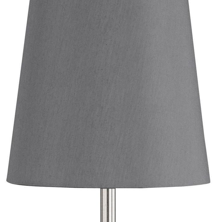 Tisch Lampe Wohn Schlaf Zimmer Beleuchtung Textil Lese Nacht Licht Leuchte grau Honsel 50772 – Bild 4