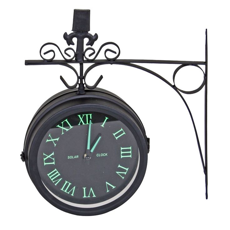 Vintage Style Wall Clock Fluorescent Living Room Decoration Quartz Time Display Roman  Harms 314593 – Bild 1