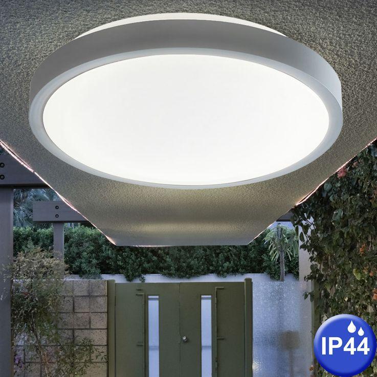 Bade Zimmer Decken Lampe rund Metall Feucht Raum Strahler Beleuchtung weiß Nordlux 441117 – Bild 2