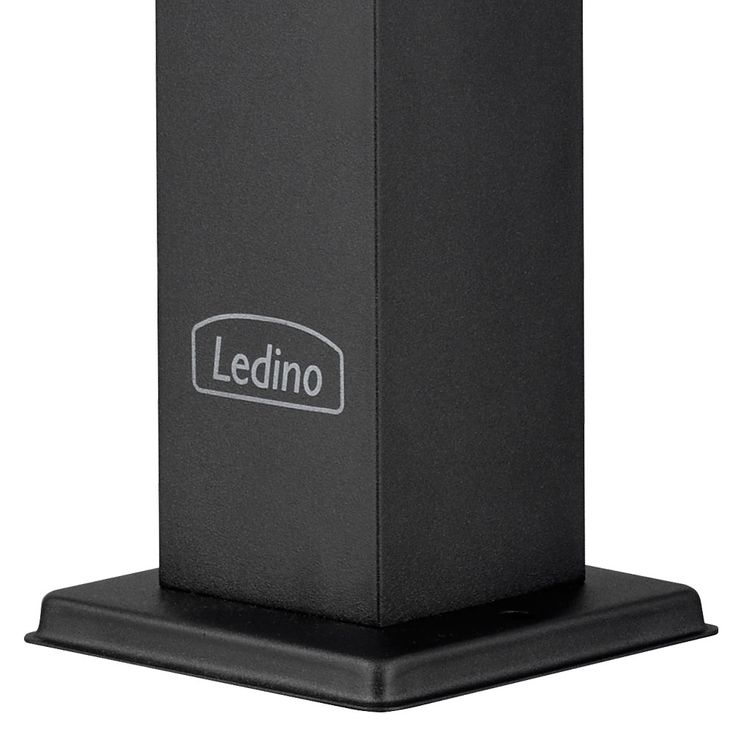 Outdoor power distribution garden 2-fold plug box black stainless steel energy column Ledino 11790000003025 – Bild 4