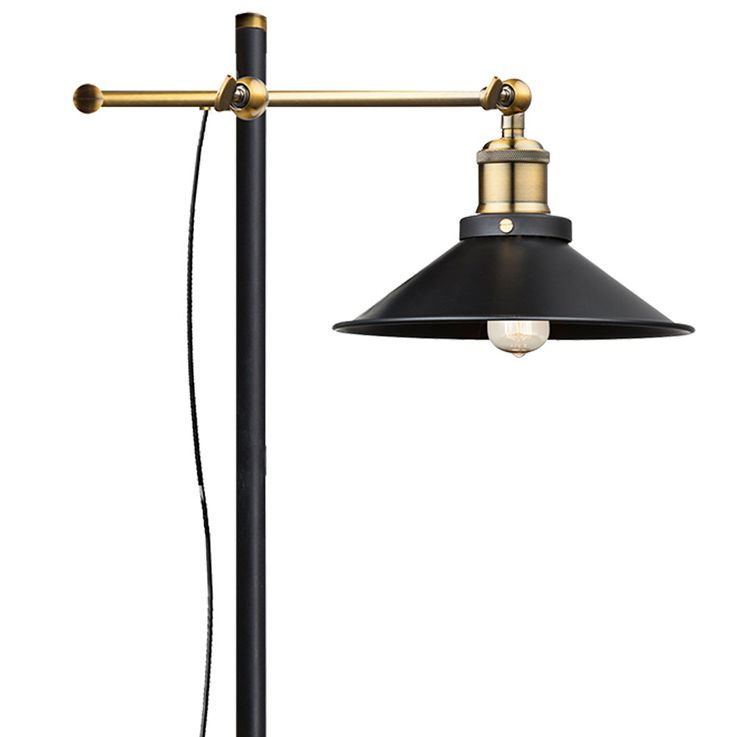 VINTAGE Standing Stand Lamp Living Dining Room Beistell Old Brass Luminaire Adjustable  Globo 15053S – Bild 4