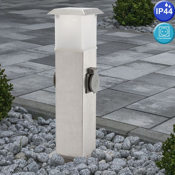 LED outdoor distribution sockets with E14 socket light garden power RGB remote control – Bild 5