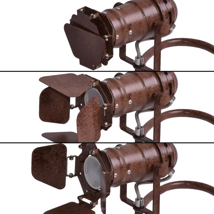 Vintage style wall light fixture living room lighting lamp rust color spot adjustable  Globo 54650-1 – Bild 8