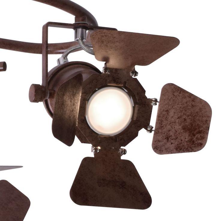 Rondell Plafonnier Projecteur de Salon Projecteur Spots Moving Projecteur Lampe rost  Globo 54650-3 – Bild 4