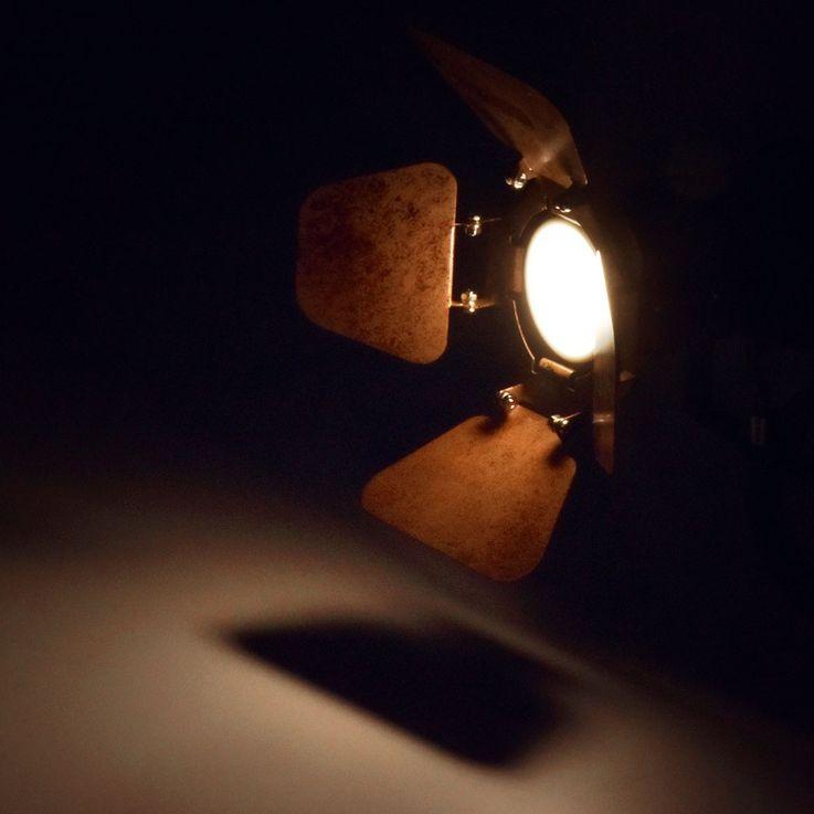 Rondell Decken Leuchte Wohn Zimmer Schein Werfer Spots beweglich Strahler Lampe rost Globo  54650-3 – Bild 6