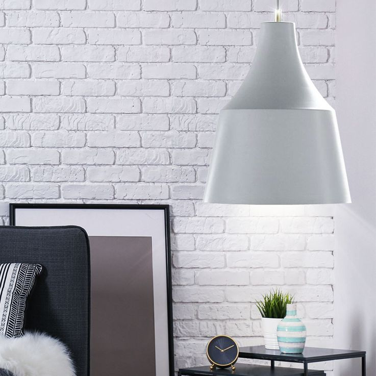 RGB LED pendant light dimmable, gray with color change GRACE – Bild 3