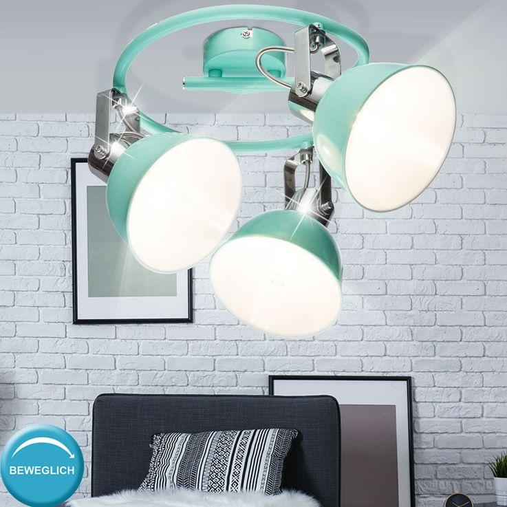 Ceiling Spot Lamp Working Room Rondell Mint Green Luminaire Office Spotlight Adjustable  Globo 54641-3 – Bild 3